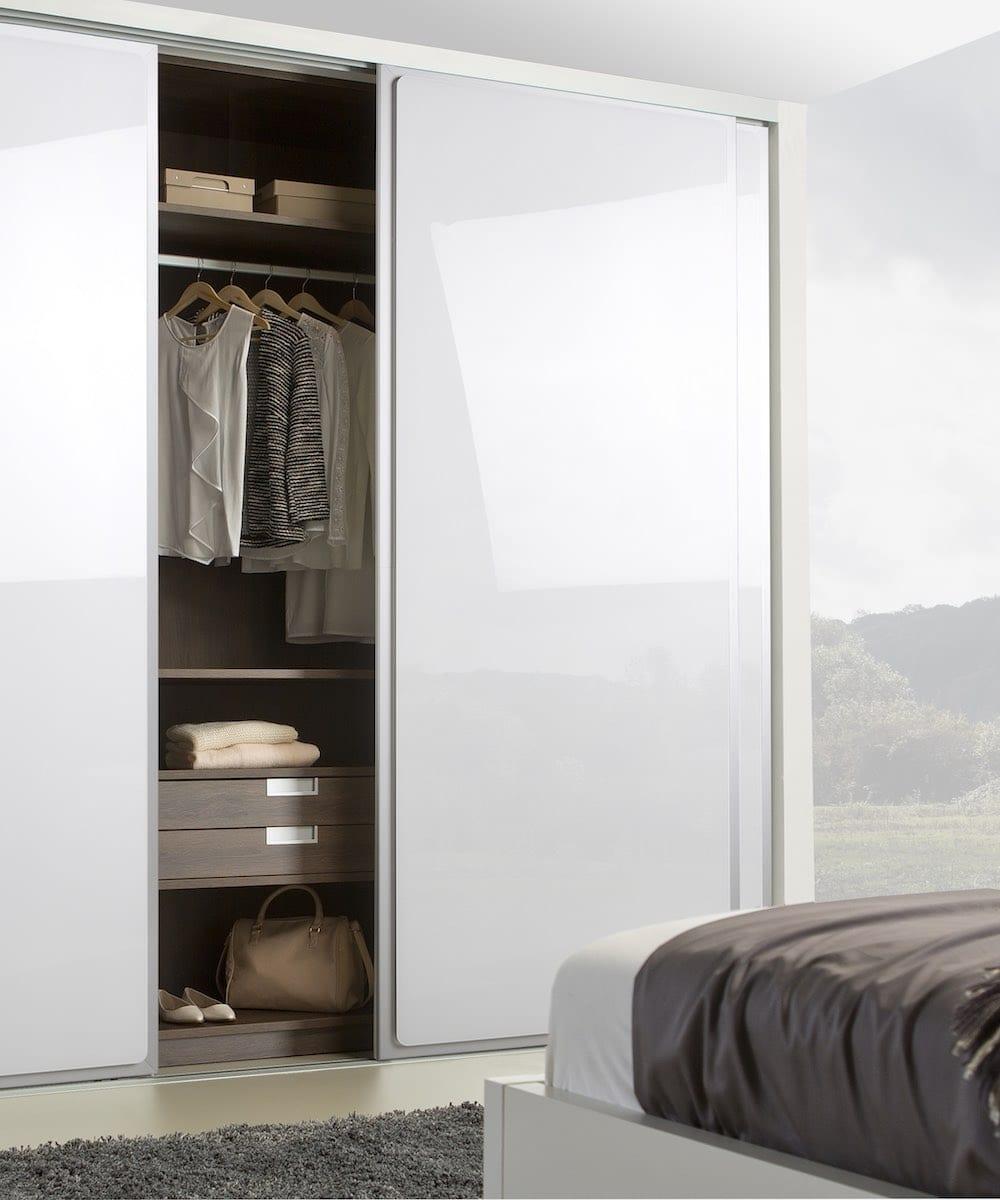 schuifdeurkast voor slaapkamer curve wit