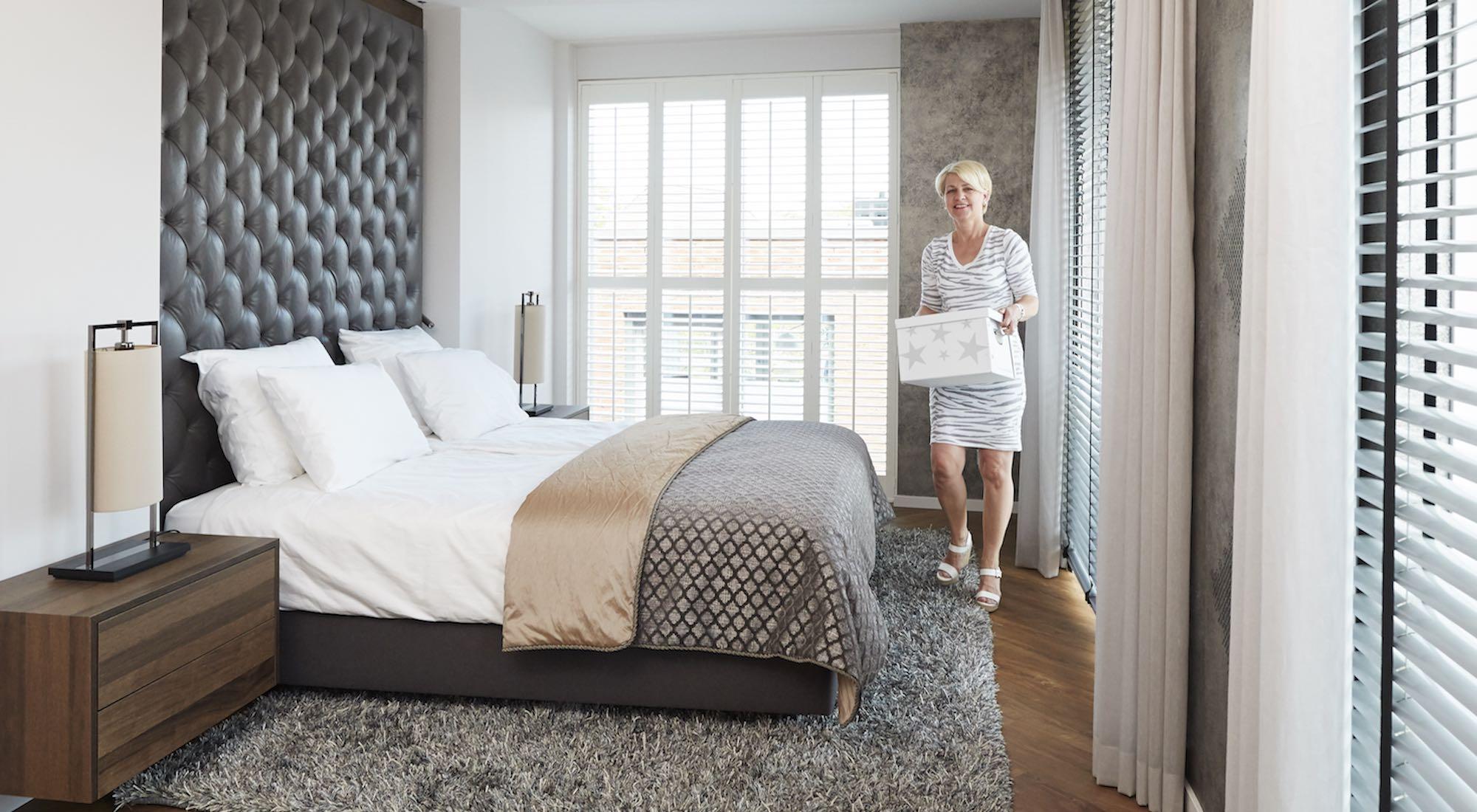 luxe hotel slaapkamer inrichten
