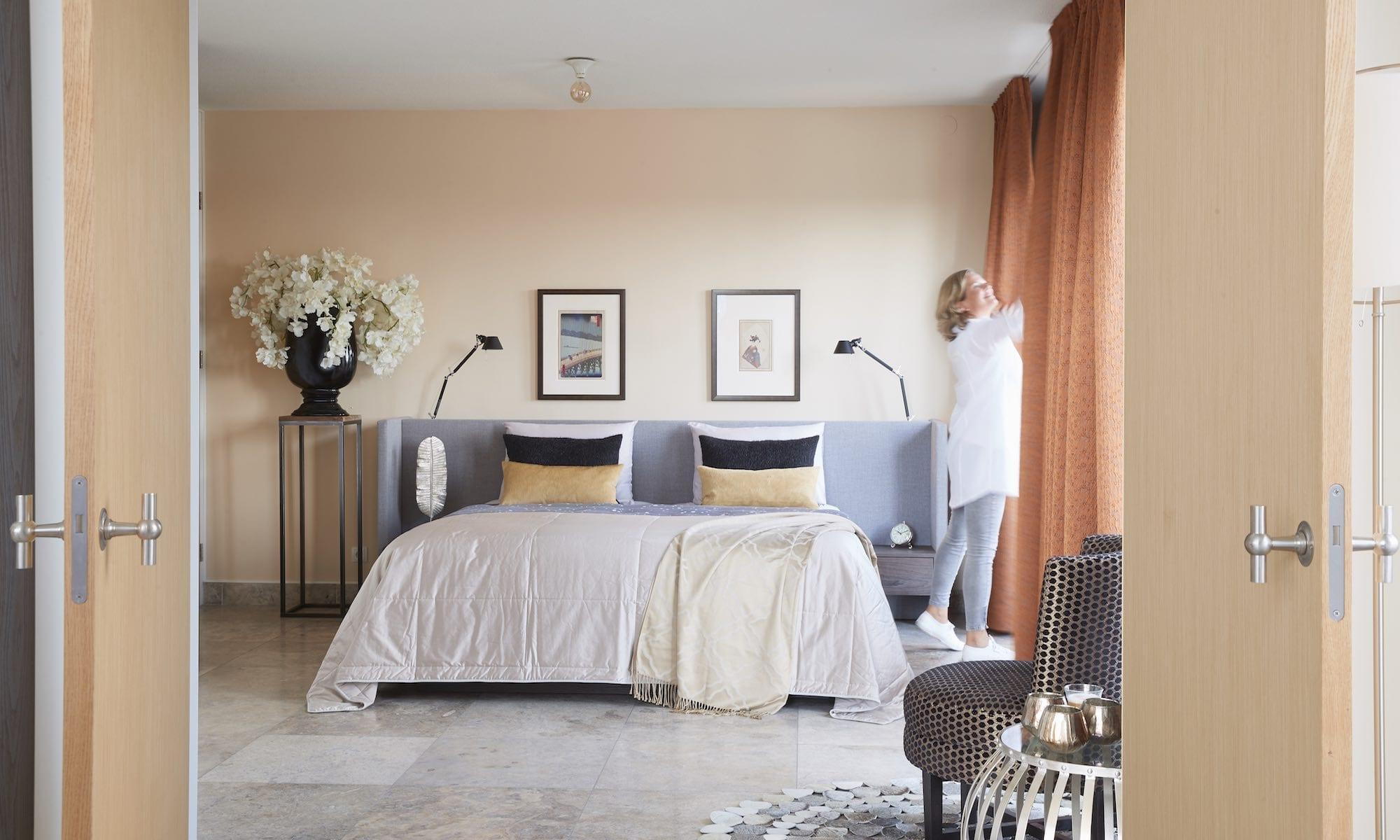 klant bij slaapkamer gordijnen
