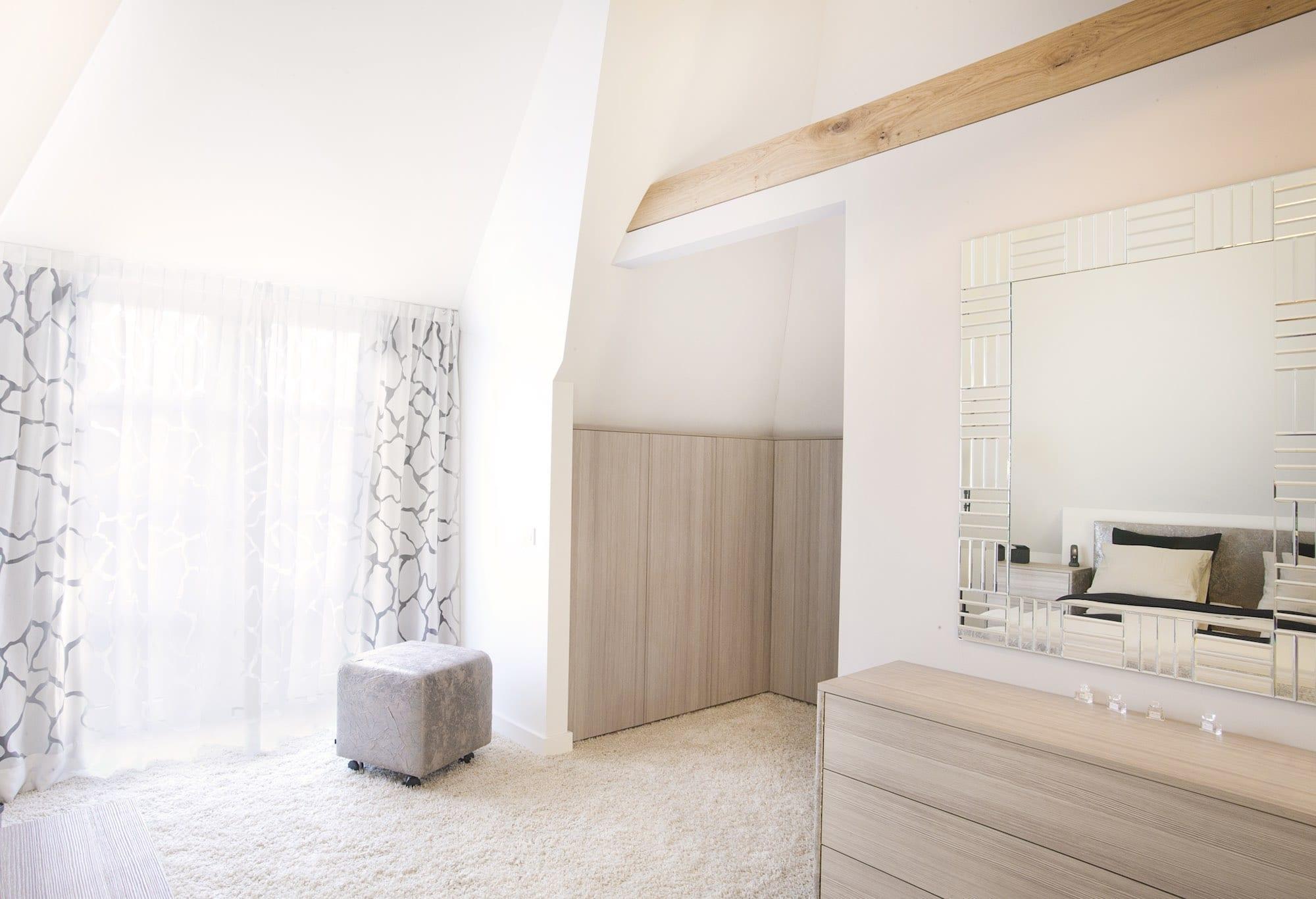 slaapkamer onder schuin dak