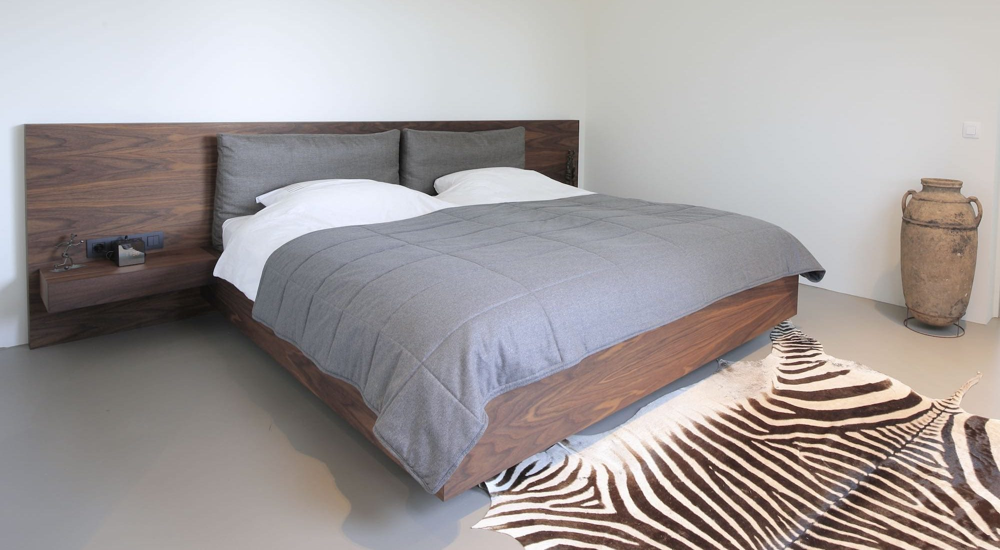 noten houten design bed