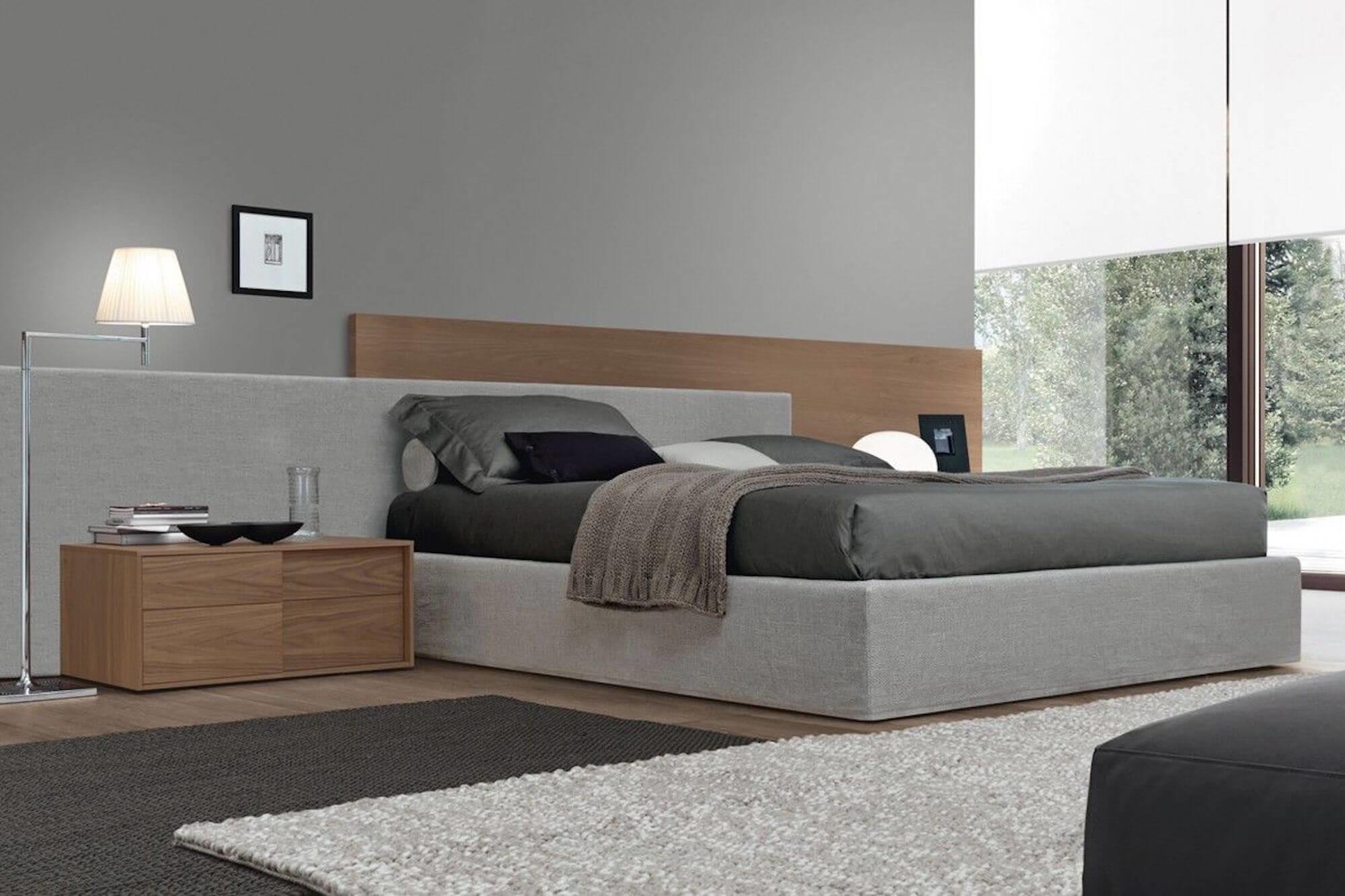 Design bed Duo Pezze grijs