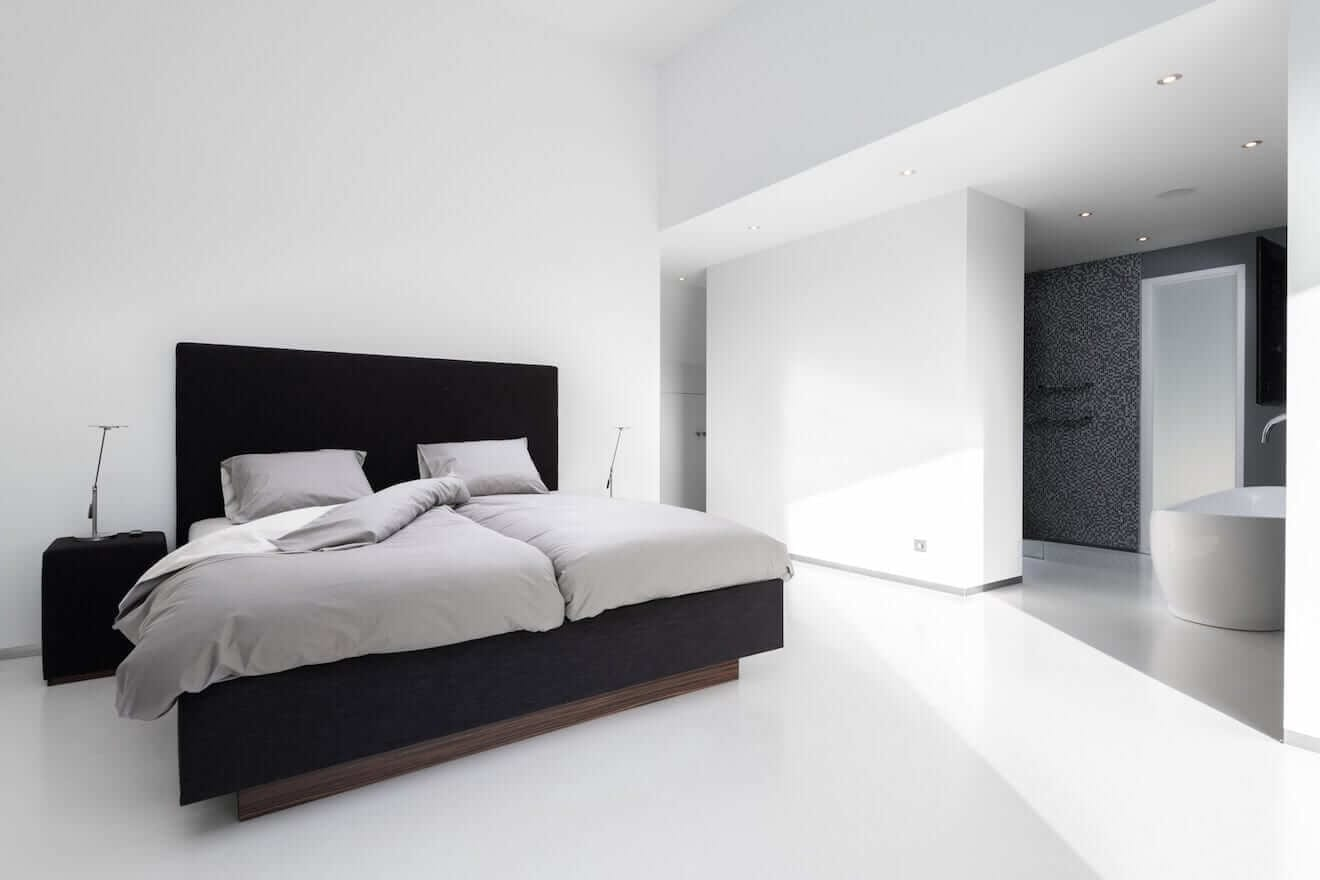 Kingsize bed met modern design