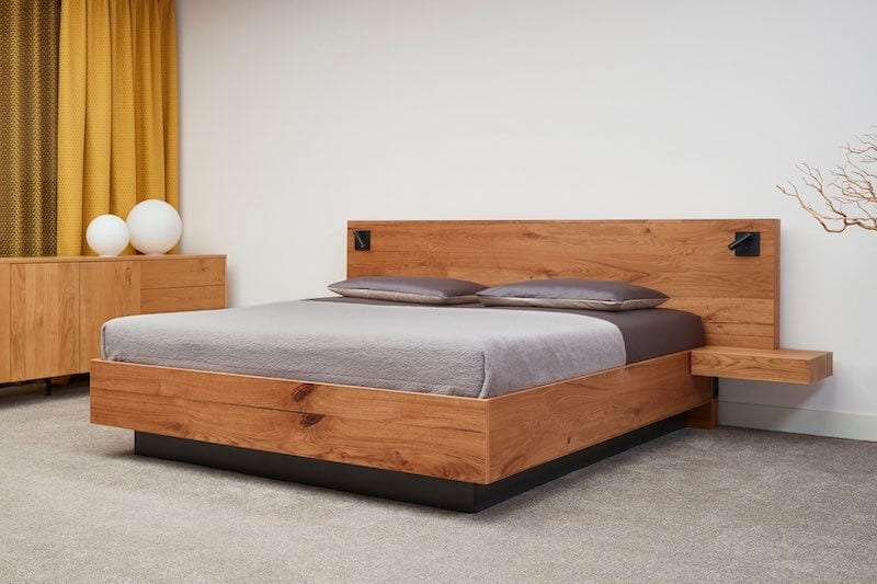 eiken houten bed Harlem
