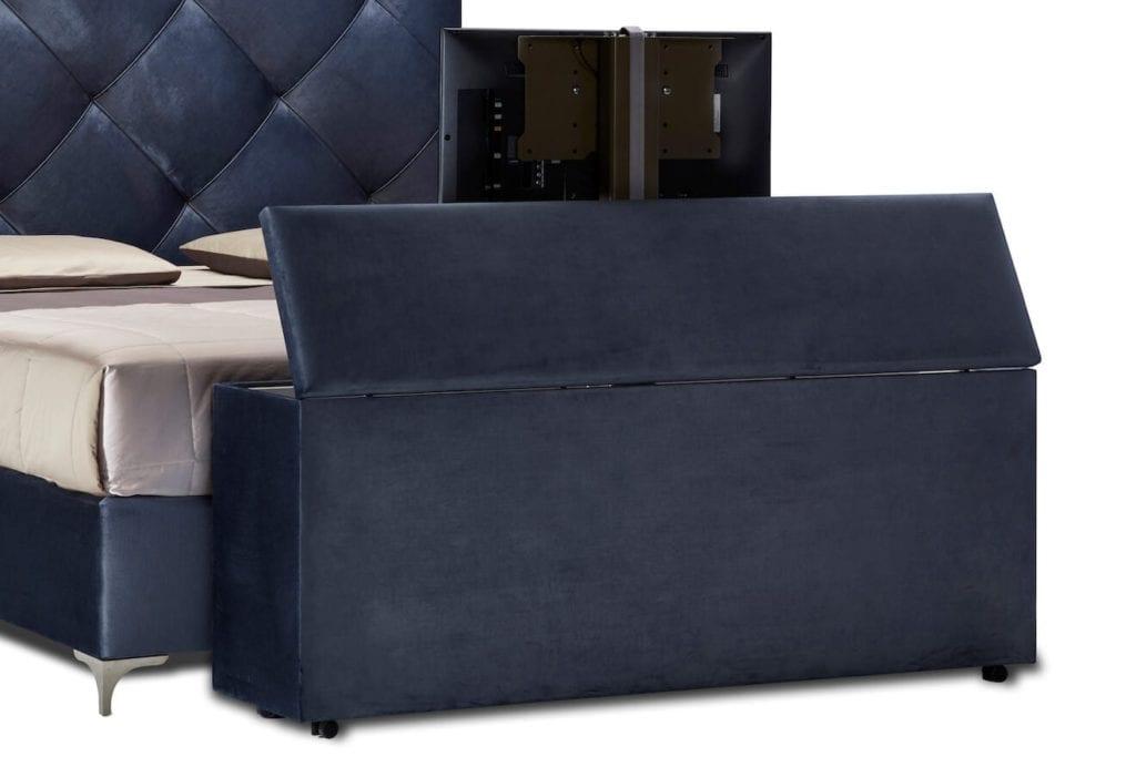 Hocker voor bed met TV-lift