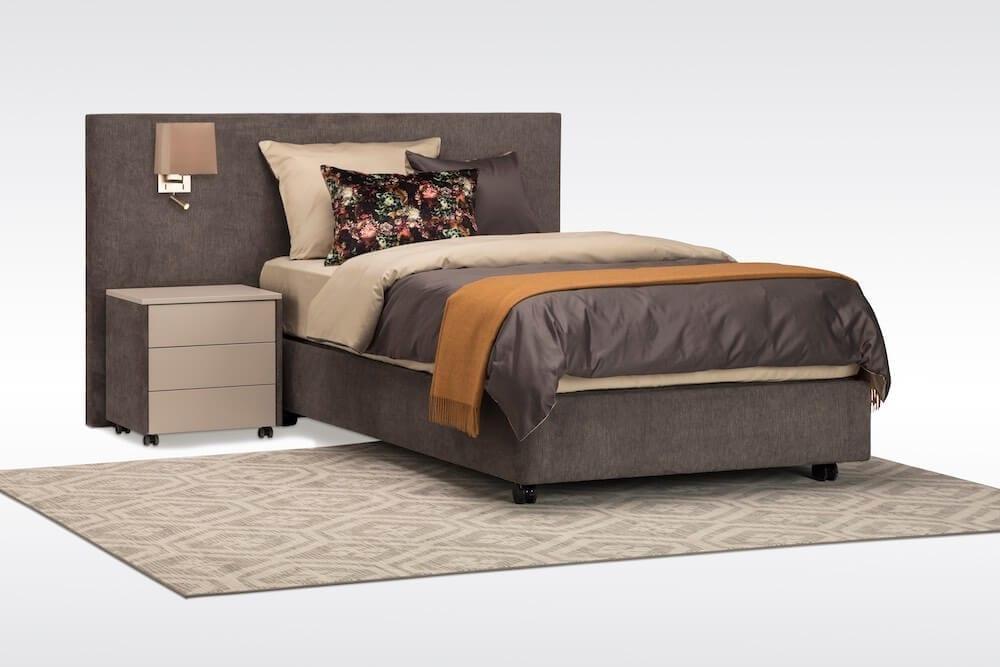hoog laag bed 120 cm breed met ombouw