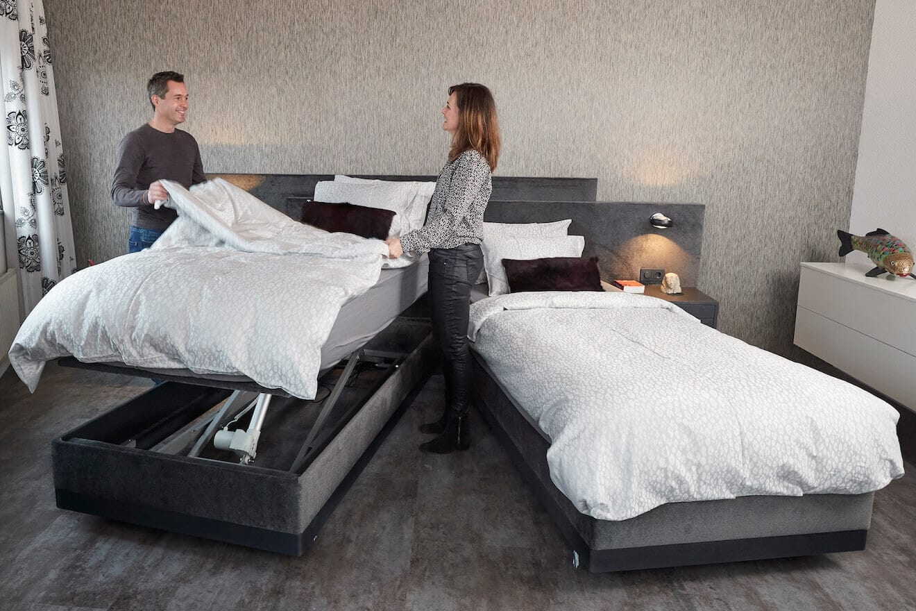 Makkelijk opmaken met een deelbaar hoog laag bed