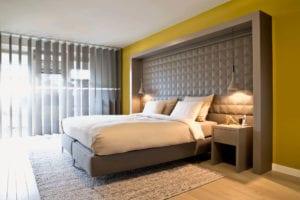 Moderne slaapkamer met design boxspring