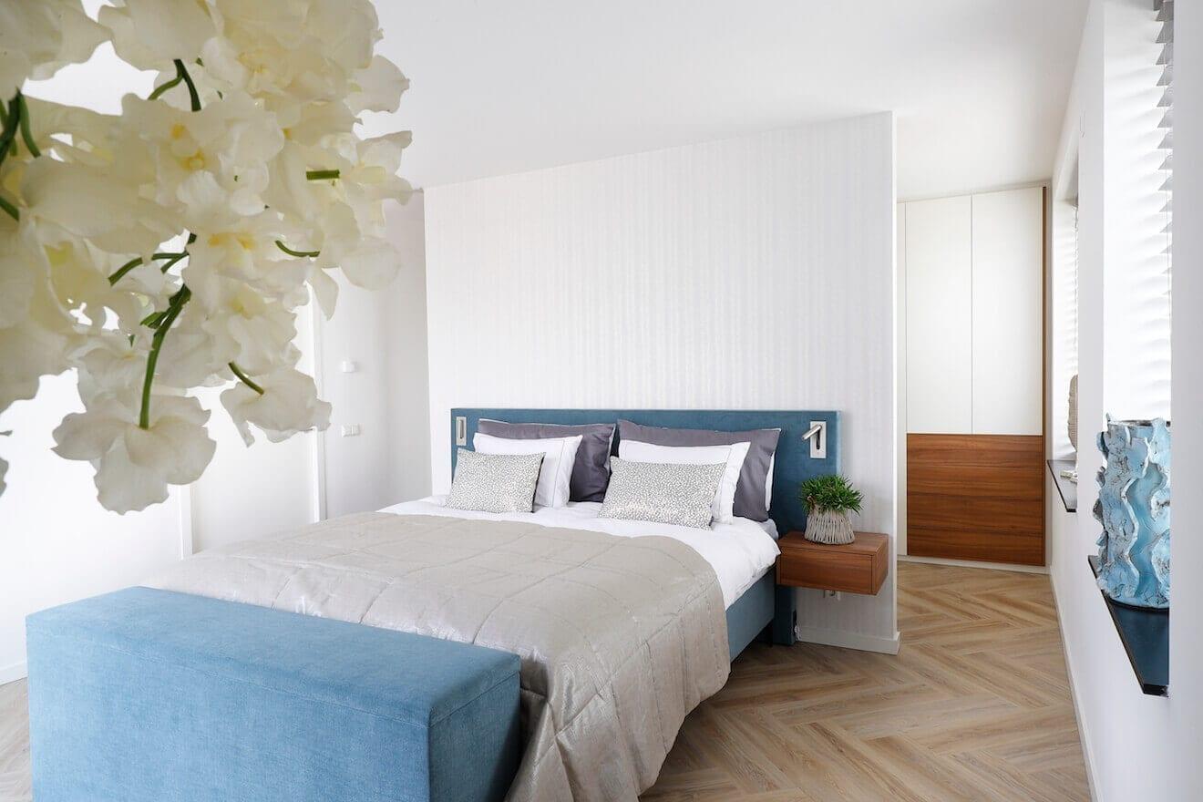 Scandinavische slaapkamer inrichting met boxspring Manifesto