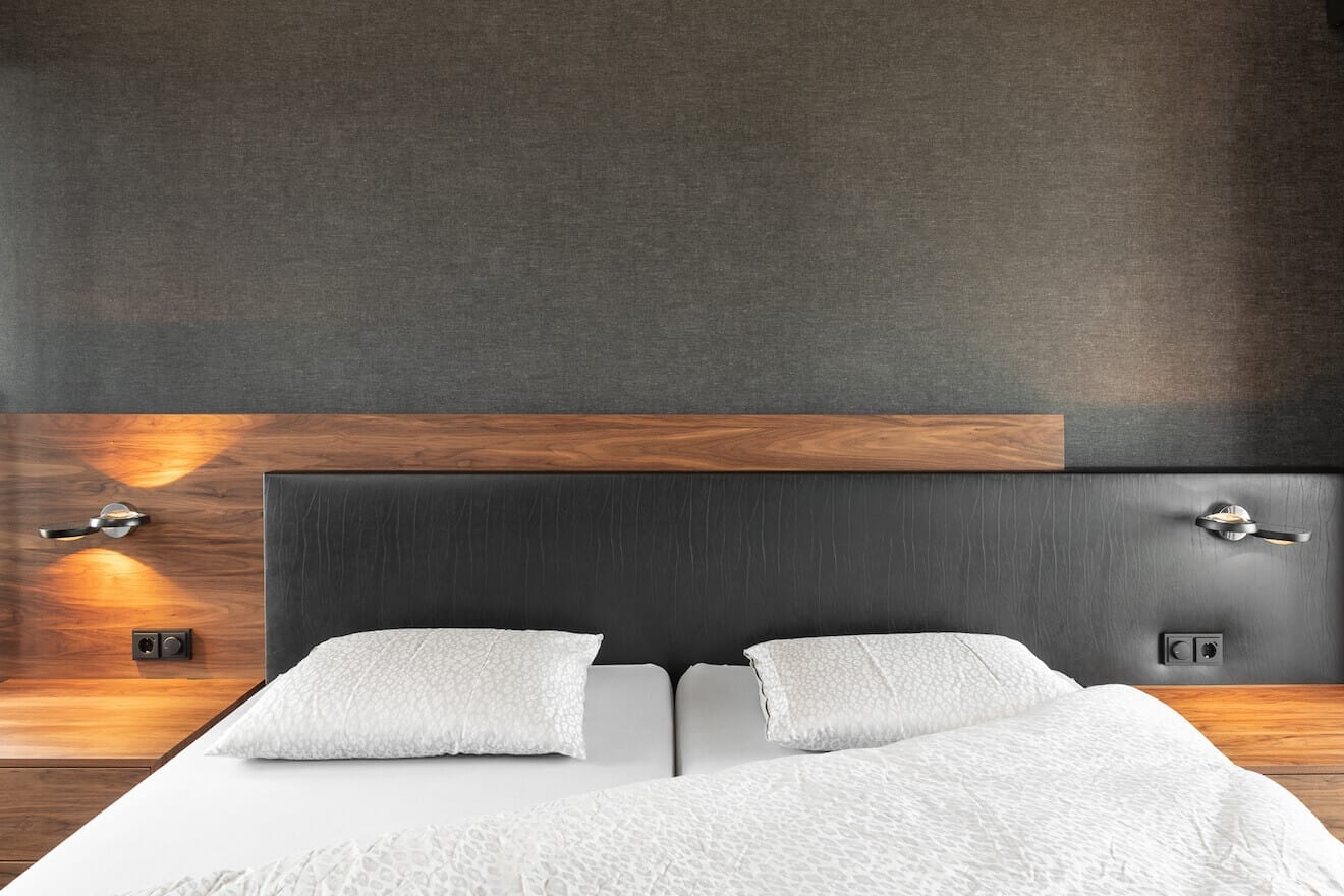 Hoofdpaneel design bed Duo Pezze