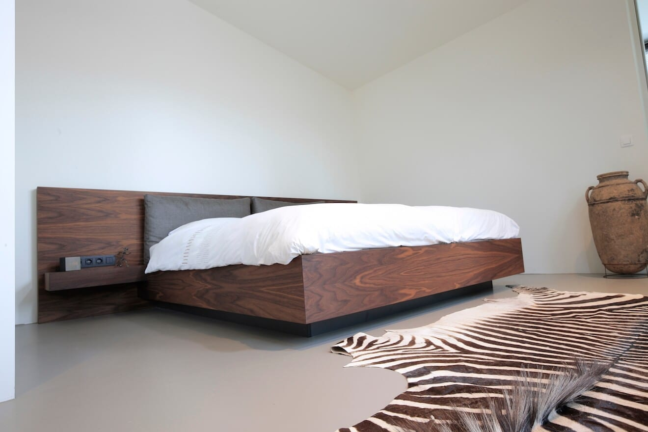 Houten design bed plint