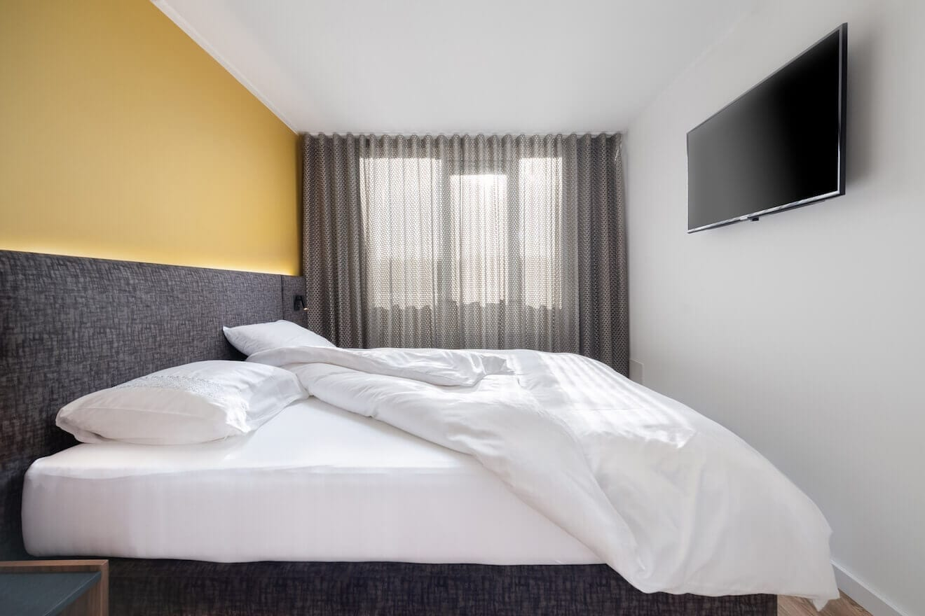 Luxe design hotel boxspring Scatole