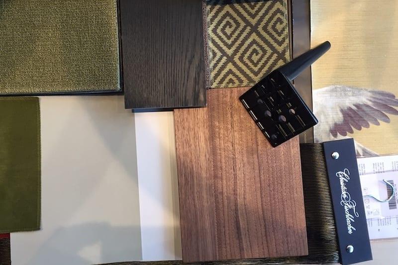 Voorbeeld van slaapkamer kleuren moodboard