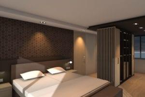 Slaapkamer ontwerp tekening