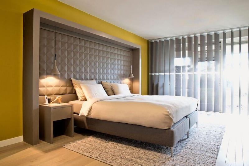 Moderne slaapkamer met design boxspring op maat