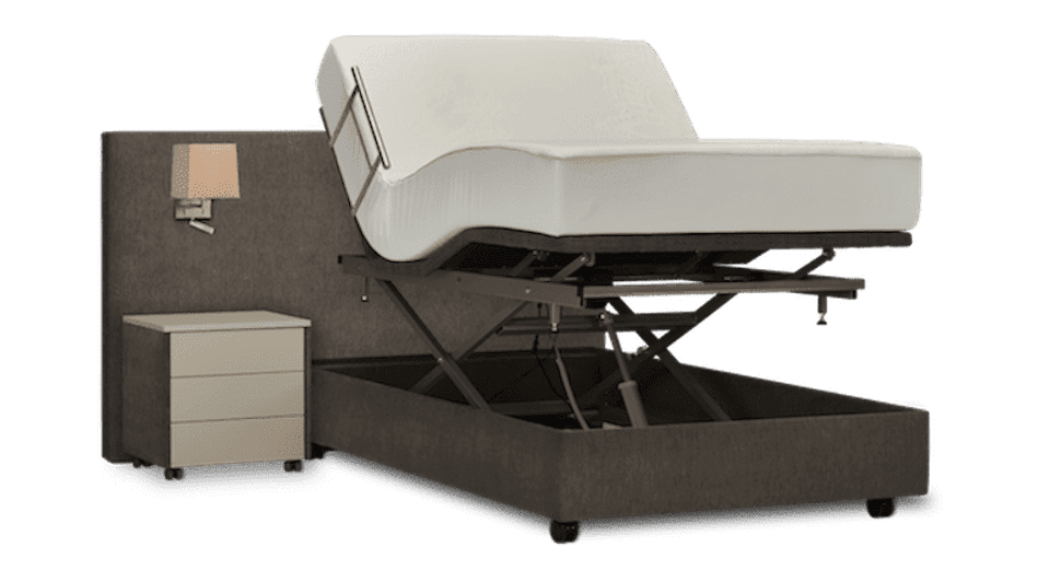 hoog laag bed in twijfelaar maat 120 cm breed